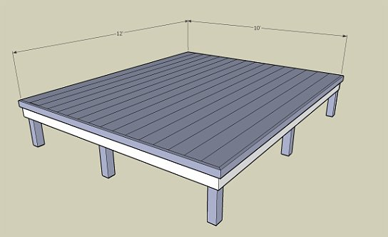 Cad library 10x10 deck plans